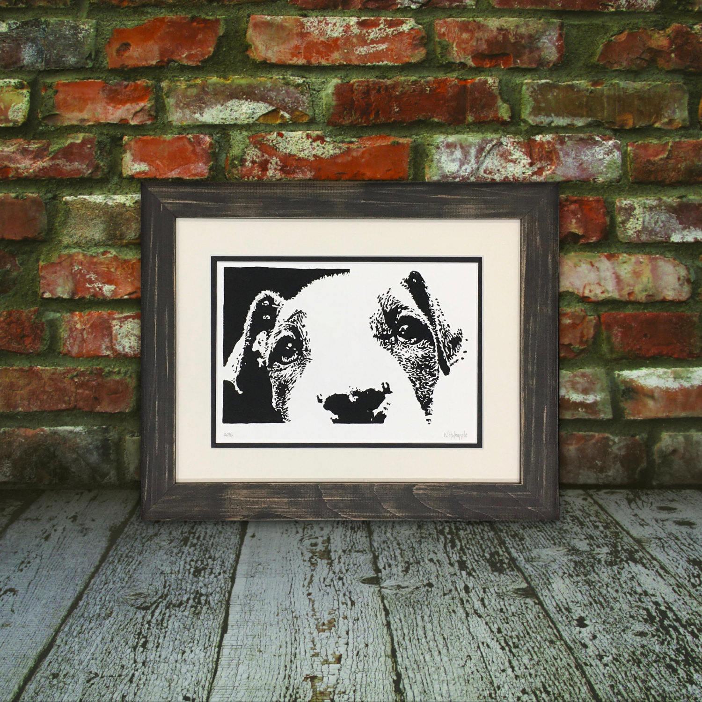 Original Jack Russell Kunstdruck Hand zog Hund Linolschnitt | Etsy
