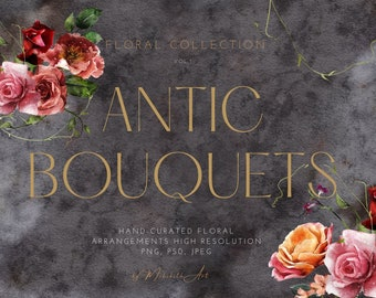 Bohemian bouquets and elements volume 1