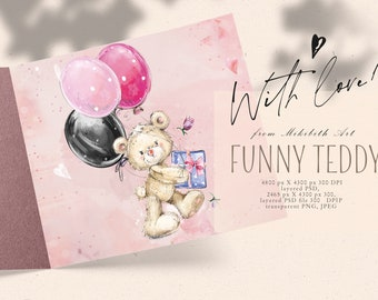 Teddy Bear Valentine's design