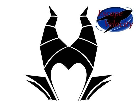 Maleficent Monogram Castle Cut File For Silhouette Cricut Svg File Download