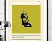 Jimmy Choo,Quotation Print,Fashion Print,Poster,Wall Art,Shoe,Retro,Quote,Art Print,Fashion designer,British Fashion,Fashion Poster,Vogue