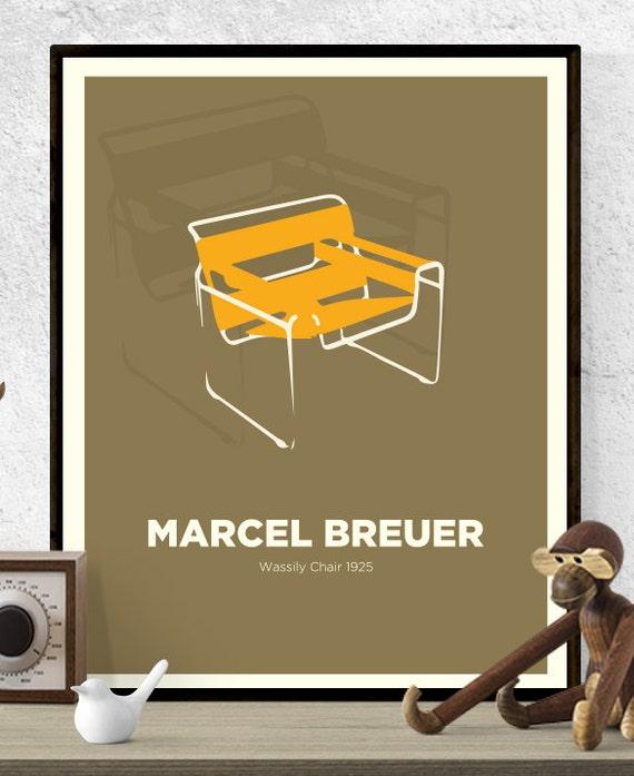 Peachy Marcel Breuer Wassily Chair Chair Print Mid Century Modern Poster Wall Art Hungarian Design Retro Art Print Icon Design Designer Frankydiablos Diy Chair Ideas Frankydiabloscom