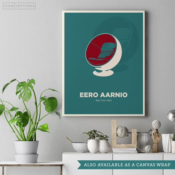 Incredible Eero Aarnio Ball Chair Print Mid Century Modern Poster Wall Art Finnish Design Scandinavian Retro Art Print Ball Chair Icon Design Short Links Chair Design For Home Short Linksinfo