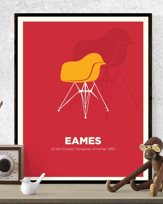 Eames House Bird PosterPrint A1 MidCentury Modern