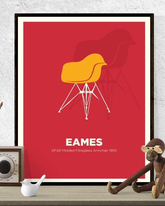 Magnificent Eames Dfar Chair Print Mid Century Modern Poster Wall Art American Design America Retro Art Print Dfar Icon Design Designer Frankydiablos Diy Chair Ideas Frankydiabloscom