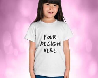 Kids Girls Tshirt 4 Position Mockup Fashion Design Mockup