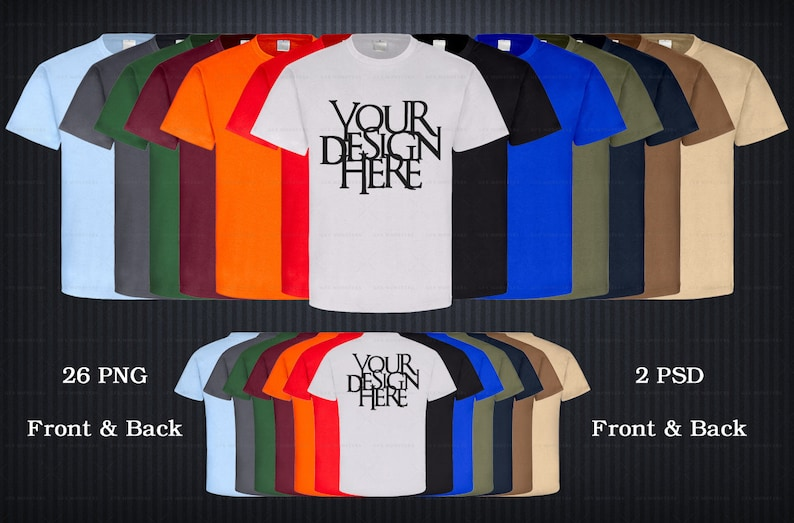 Apparel Mockup Bundle High Resolution 1500X1500 300 dpi Back 26 PNG Transparent 2 PSD bundle Pack TShirt Mockup Front DOWNLOAD