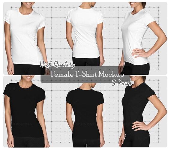 Ladies Womens Tshirt Mockup PNG / PSD Front Back   Etsy