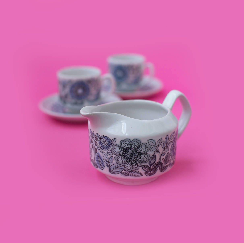 Tea Cups And Milk Jug Alcobaça Portugal