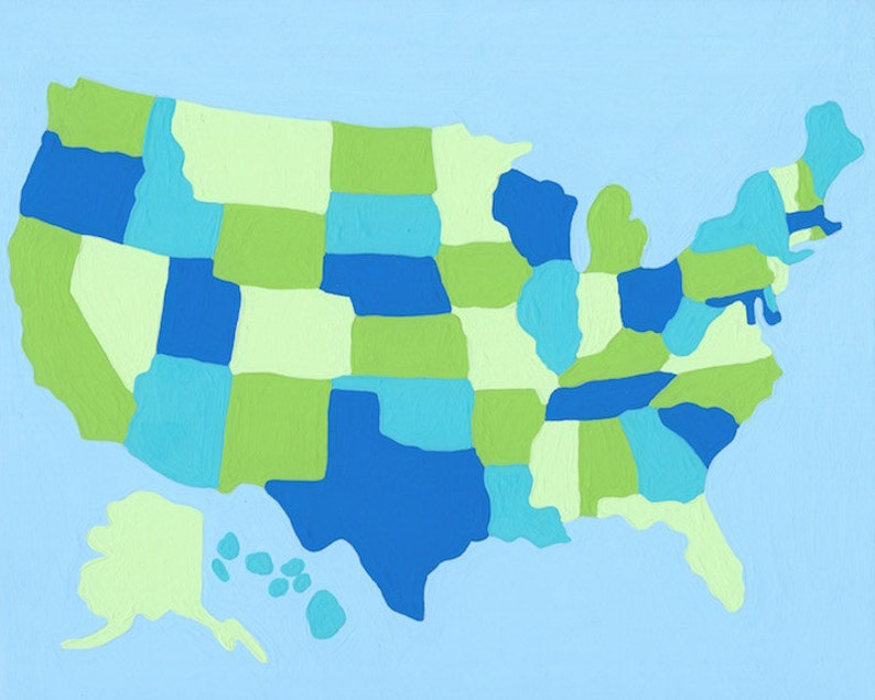 Paint by Number Kit - USA Map Paint as Your Travel or All at Once (perfect on usa map decor, usa map plane, usa map franklin, usa map with features, usa map vinyl, usa map chalkboard, usa map texture, usa map area rugs, usa map graffiti, usa map puzzle pieces, usa map detail, usa map water, usa map decal, usa map mural, usa map sheet, usa map curtains, usa map powerpoint, usa map food, usa map wrapping paper, usa map flag,