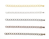 Extension Chain, Chain Extender, Jewelry Extender, Gold, Rhodium, Gun, Antique Bronze, Antique Copper, DIY, Jewelry Making, 2 quot or 3 quot , RN