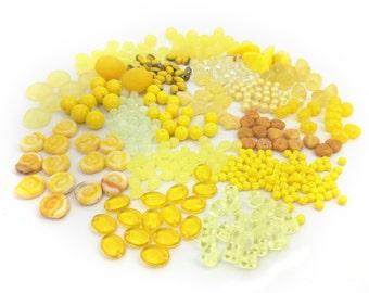 170g Czech Bead Mix, Bead Soup, Assorted Glass Bead, Yellow Bead Mix, DIY  Craft, Jewelry Making, Bulk, Wholesale, BM016