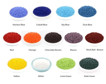 30g 10/0 Vintage Czech Seed Bead, Tiny Glass Bead, Embroidery Bead, Rocaille, Opaque, DIY Craft, Bulk, Wholesale, 13 Colors, RN