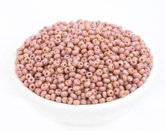 30g 8/0 Czech Seed Bead Dusty Rose Pink AB, Rocailles, DIY Craft, Bulk, Wholesale, 4792G