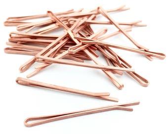 100 Bobby Pin Blank, Bridal Pin, Wedding Pin, Hair Pin, Hair Clip, DIY Hair Clip, Hair Accessory, Bulk, Wholesale, 2x55, RN