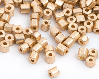 20g 9/0 Czech Seed Bead, Vintage Bead, Two Cut, Light Gold, Bead Weaving, DIY Craft, Bulk, Wholesale, 4500H