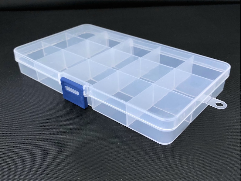 Plastic Storage Box 15 Compartment Box Bead Container Box Etsy