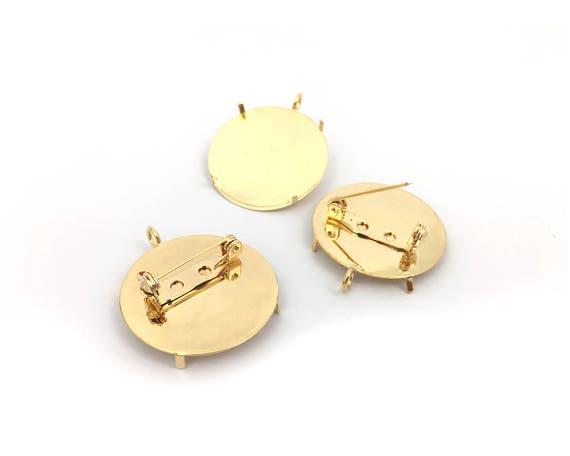 Blank Broche Chapeau PINS Création Argenté Jewelry Findings Accessoires