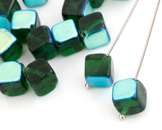 YOU PICK DIY jewelry 20pcs 6x6x6mm Glass Crystal 5601 Cube Beads
