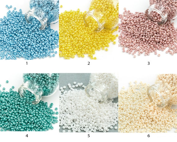 12//0 Opaque Gray Czech Seed Bead #CSH076 10 Gm, Hank, 1//2 Kilo