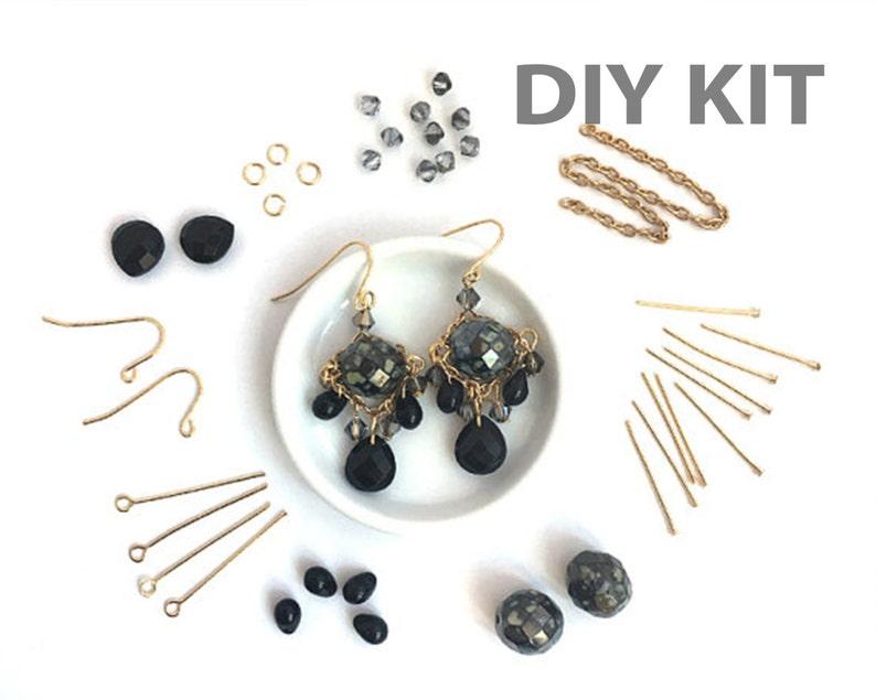 6d67852f24dc0 DIY Earring Kit, Jewelry DIY Kit, Jewelry Making Kit, Beading Kit, Bead  Kit, Dangle Bead Earring, Victorian Earring, Wholesale, EP005