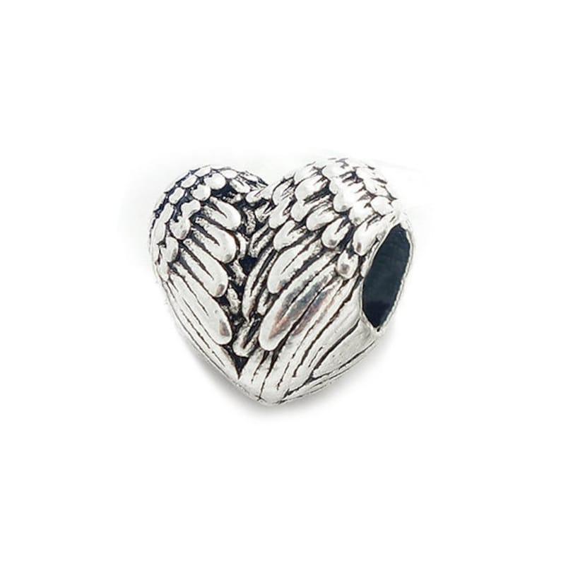 c3e8a8fbc Silver Plated Wing Bead Charm fits Pandora Bracelets   Etsy