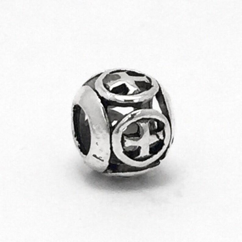 04c761676 Retro Tibetan Cross Charm fits Pandora Bracelets   Etsy