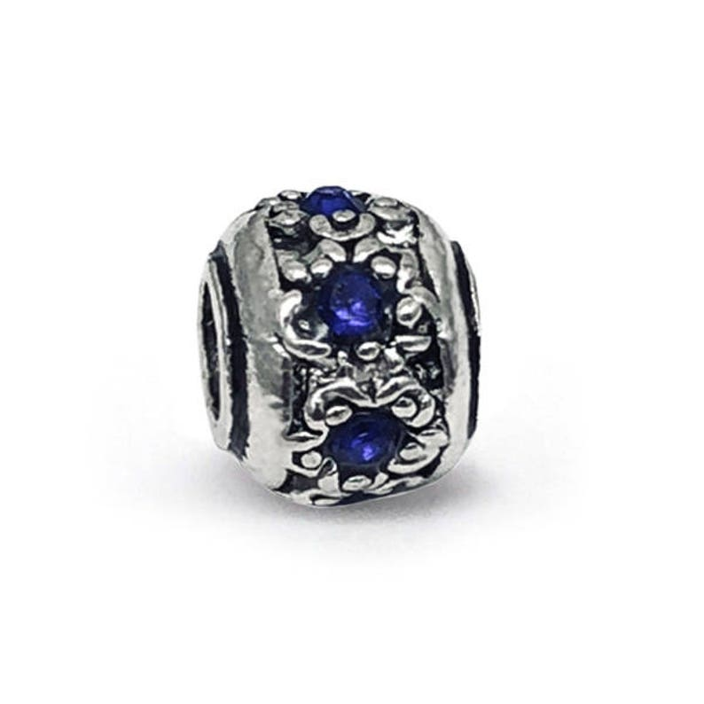 3a07f17e5 Retro Tibetan Lampwork Blue Crystal Charm fits Pandora   Etsy
