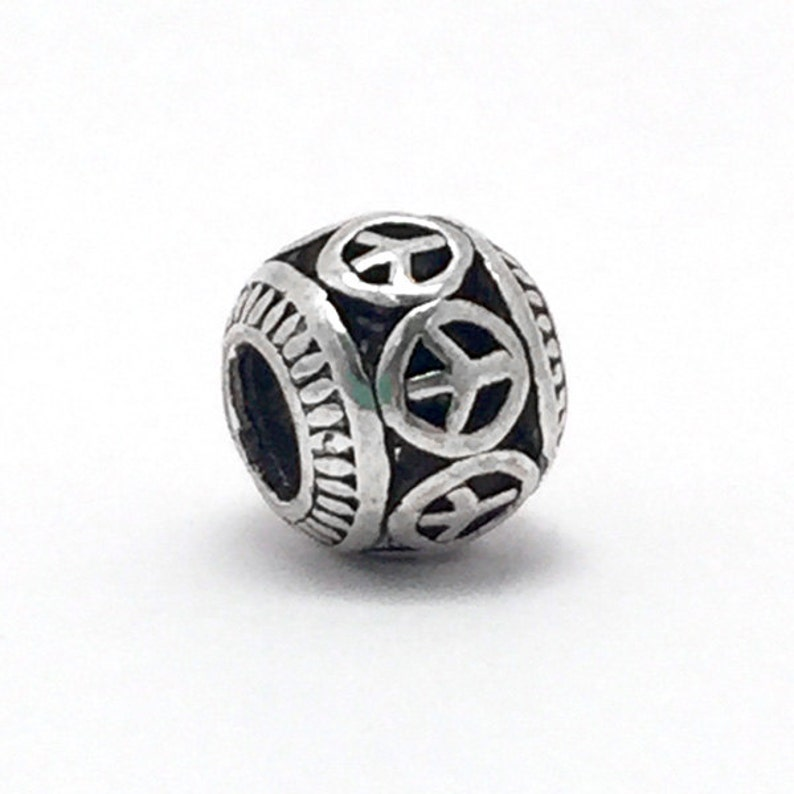 08f3c964f Retro Tibetan Peace Sign Charm fits Pandora Bracelets   Etsy