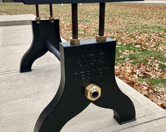 Cast iron table legs etsy 48 industrial jcs design adjustable cast iron table base legs live edge watchthetrailerfo