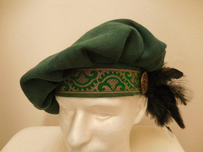49a9865bfe095 New adult green Renaissance Medieval Tudor Elizabethan Floppy