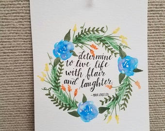 Watercolor Wreath Quote