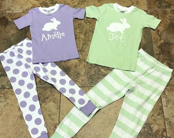 f4516f671 Personalized Easter pajamas. Easter Long Johns, Easter pjs. Infant, Toddler,  Kids Easter photos. Children's personalized pjs.