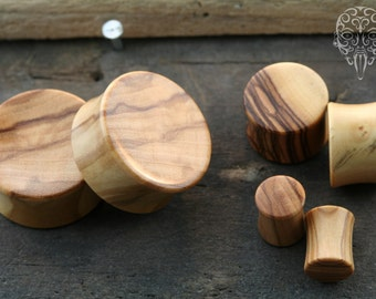 Olive Wood Plugs and Concaved Plugs