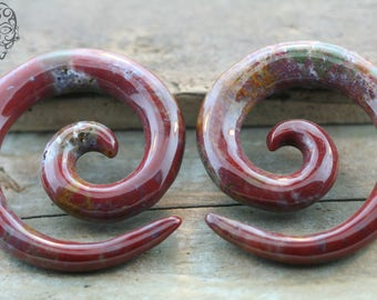 00g  Indian Agate Stone Spirals - NEW