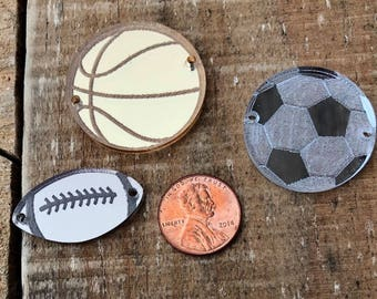 Sport Inspired Bangle; Basketball; Baseball; Volleyball; Soccer; Football Bangle