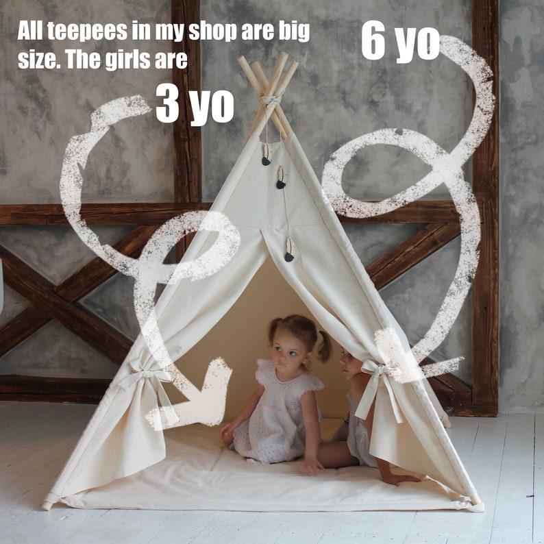 Play teepee Tipi kids Toddler teepee tent Girls teepee Indoor playhouse Kids tipi Tipi enfant Teepee for kids Kids teepee tent