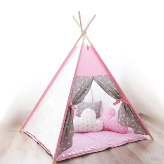 Play Tents For Girl Kids Teepee Girls Play Tent Teepee Tent Etsy