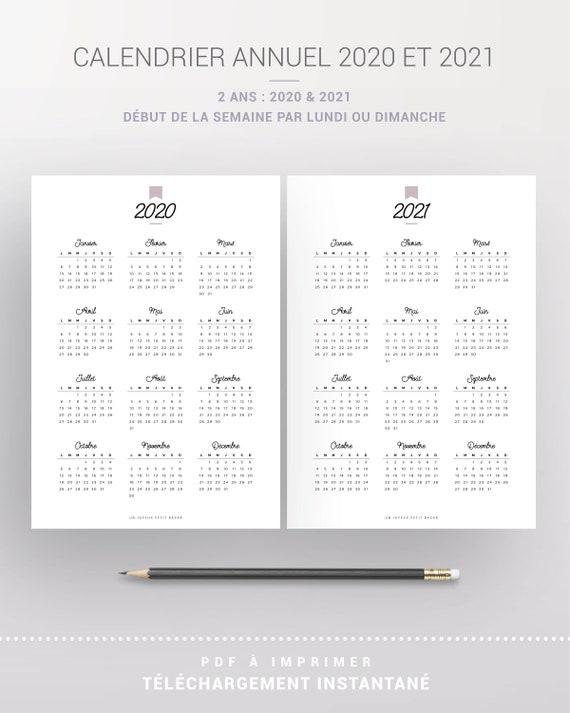 Calendrier Concours Ring 2021 Calendrier annuel 2020 et 2021 imprimable recharge à imprimer | Etsy