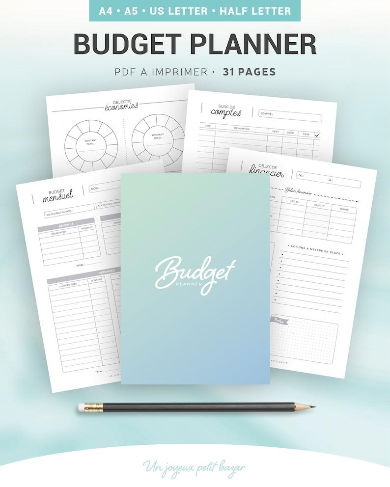 Budget planner à imprimer pour la gestion de comptes et le image 0