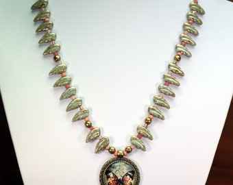 Butterfly Leafy Necklace