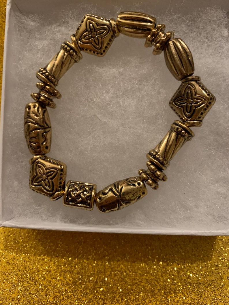 gold Beaded bracelet for Women