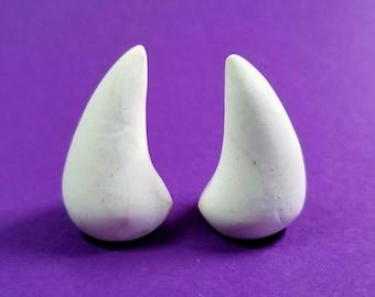 WHITE HORNS   Glue On  Devil Horns