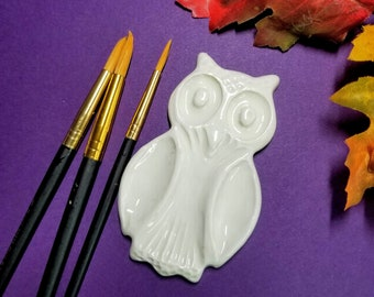WATERCOLOR PALETTE | Owl | 5 Mixing Wells