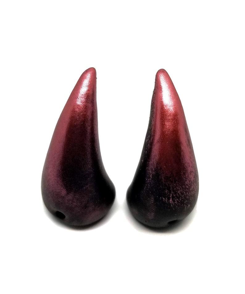 Red Shimmer Horns image 0
