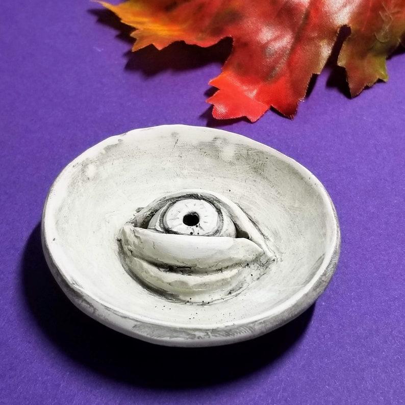 INCENSE HOLDER  Evil Eye Trinket Dish  Fall Décor image 0