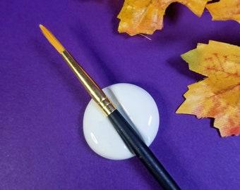 BRUSH REST | White Paint Brush Rest | Artist Gift
