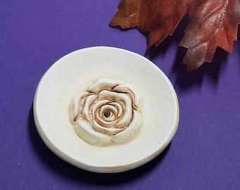 INCENSE HOLDER | Antique Rose Trinket Dish | Fall Decor