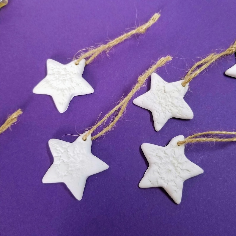 STAR ORNAMENTS  Gift Tags  Textured  Decoration  Wedding image 0