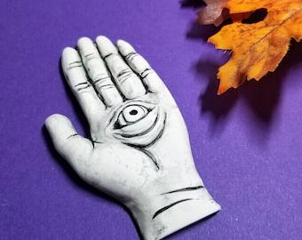 INCENSE HOLDER |  Evil Eye | Hamsa |  Hand Sculpture | Incense Stick Holder